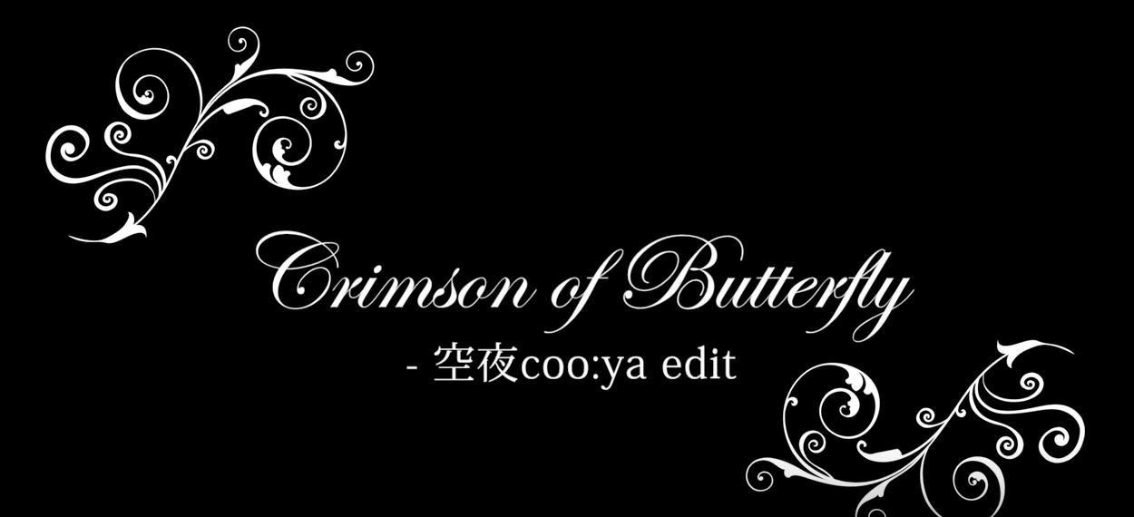 『Crimson of Butterfly – 空夜coo:ya edit』ミュージックビデオ、本日よりiTunes Storeから配信再開